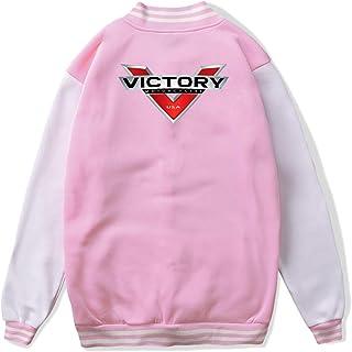 VJJ AIDEAR Victory Motorcycles Logo Baseball Uniform Jacket Sport Coat Child Long Sleeve Hoodie Sweatshirt Black