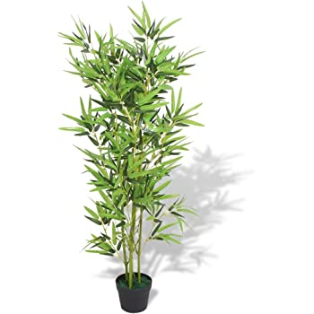 Outsunny Bambú Artificial 180cm con Cañas Naturales Árbol Planta ...