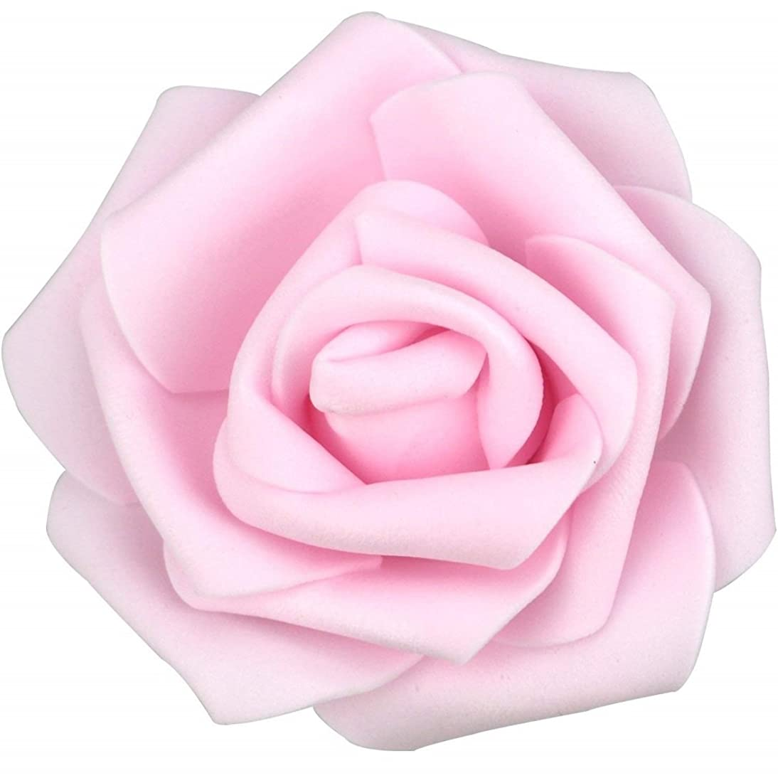 Artificial Foam Roses for DYI Bridal Wedding Bouquet or Home Garden Party Floral Decor 25 pcs (Pink)