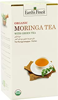 Earth's Finest Organic Moringa Tea - Green Tea - 25 Tea Bags