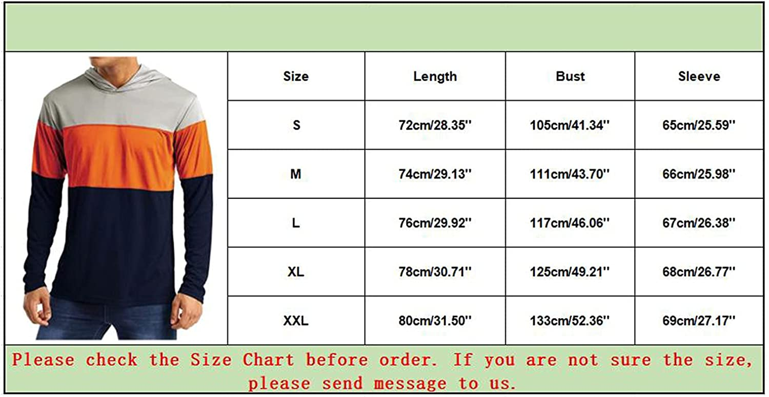 XXBR Hooded Tops for Mens, Fall Men's Lightweight Athletic Long Sleeve Casual T-shirts Hoodies Basic Sweatshirts