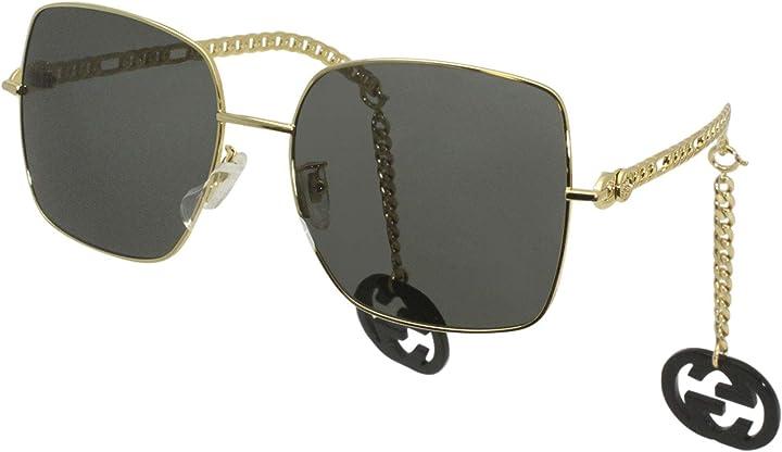 Occhiali gucci occhiali da sole gg0724s gold/grey 61/18/135 donna