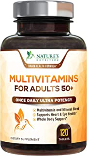 Multivitamin for Adults 50 Plus Extra Strength Daily Multivitamins and Minerals Supplement 627mg - Made in USA - Multi Vit...