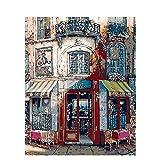 Guume - Pintura al óleo con números Pintados a Mano, Dibujo de Mesa para Colorear sobre Lienzo, decoración del hogar,, DIY, 45 * 50 cm, sin Marco