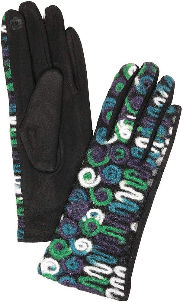 ScarvesMe Women's Multi Color Yarn Winter Warm Smart Touch Gloves