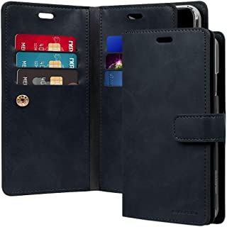 iPhone XR Leather Cover Protection Wallet with Multi Pockets Case, Navy
