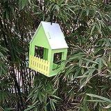 Casas Para Pájaros Nidos Para Pájaros Diy Bird House Ventilación De Madera Nido De Pájaros Entretenimiento En El Patio Trasero Hangable Birdhouse Decoraciones De Jardín 15 * 12 * 24 Cm @ Verde