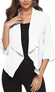 Abollria Womens Open Front Casual Solid Comfy Light Chiffon Long Sleeve Cardigan