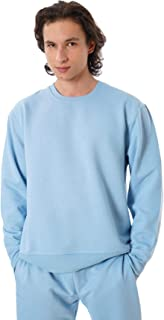 Eoselio Man Leisure Loungewear Comfy Soft Fleece Long Sleeve Crewneck Sweatshirt