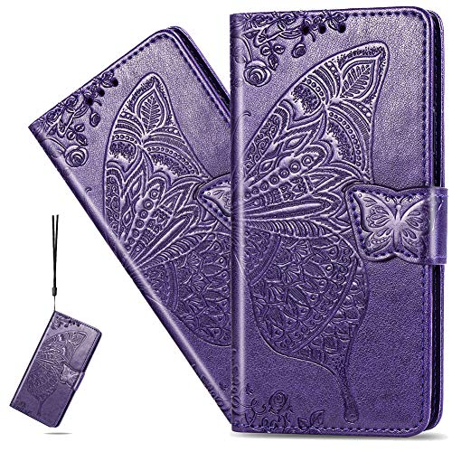ISADENSER Phone Case for Galaxy A11, Samsung A11 Case Elegant Embossing Butterfly...