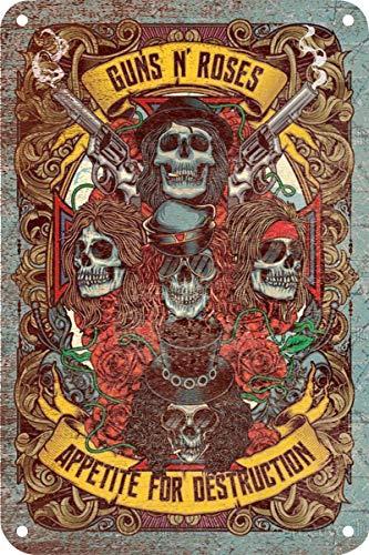 KODY HYDE Póster De Pared Metal - Guns N' Roses - Cartel De Chapa Vin