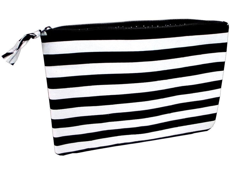 Darice Fabric Zipper Pouch Blk/Wht Fashion Bags ZipperPouchBlk/Wh
