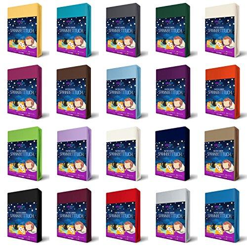 EllaTex FROTTEE Kinder Spannbettlaken 70 x 140 cm für Kinderbett/Babybett, in Farbe: Anthrazit-Grau