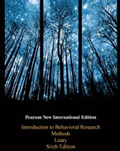 Introduction to Behavioral Research Methods: Pearson New International Edition PDF eBook (English Edition)