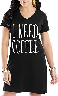 6c50a30a6e Amazon.com  Food   Drink - Nightgowns   Sleepshirts   Sleep   Lounge ...