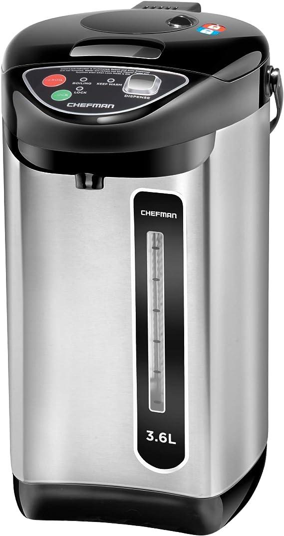 Chefman Electric Hot Water Pot Urn w/Auto & Manual Dispense Buttons