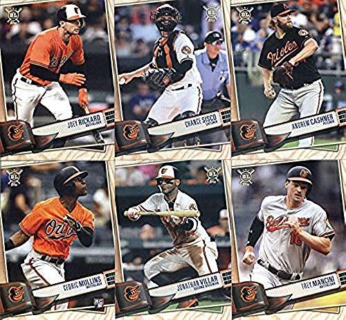 2019 BIG LEAGUE Baseball (Topps product) Baltimore Orioles Team Set (Stock Photo Used, all cards will be base version) of 9 Cards: Mark Trumbo(#56), DJ Stewart(#57), Trey Mancini(#146), Dylan Bundy(#153), Jonathan Villar(#180), Cedric Mullins(#204), Andrew Cashner(#213), Chance Sisco(#219), Joey Rickard(#263)