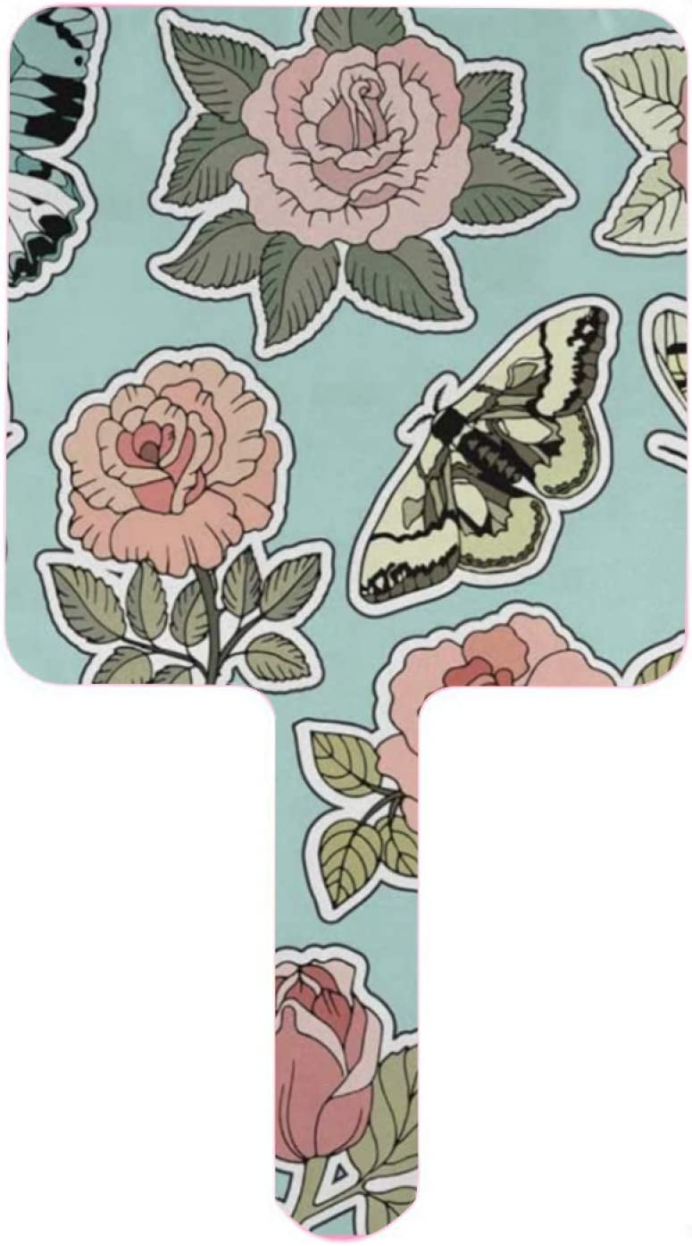 Hand Mirror Pink Price Our shop most popular reduction Roses and Butterfly Cartoon Patches in 80S Smal