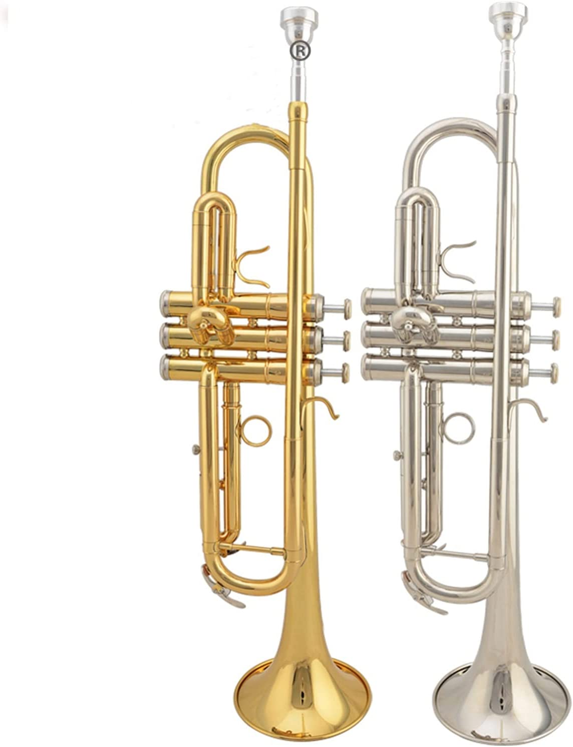 B Selling and selling Flat Gold Lacquer Trumpet Brass Case Cash special price Wind Instruments with