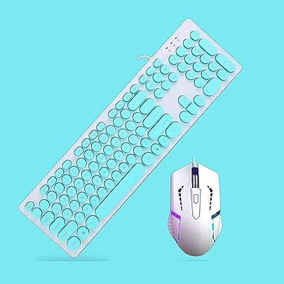 Byx- Kabelgebundene Tastatur mit Hintergrundbeleuchtung Notebook-Desktop-Computer Lichtemittierende Externe USB-Runde Taste Tastatur- Schwarz-Tastatur kann beleuchtet Werden -Tastatur Farbe B Schätzpreis : 44,72 €
