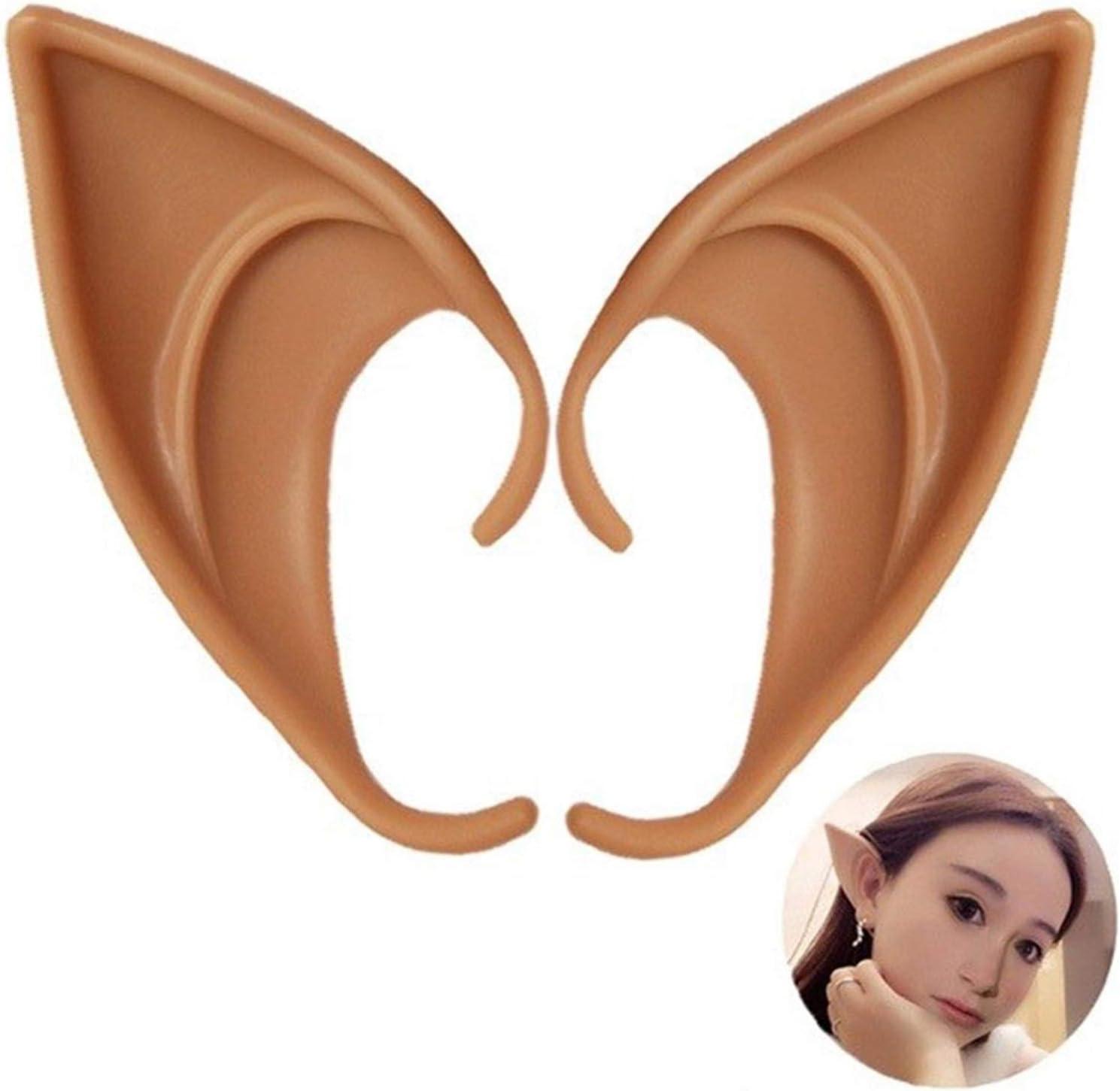 1 Pair of Latex Elf Ears Up Fa Vampire Cheap Great interest Dress and Teeth