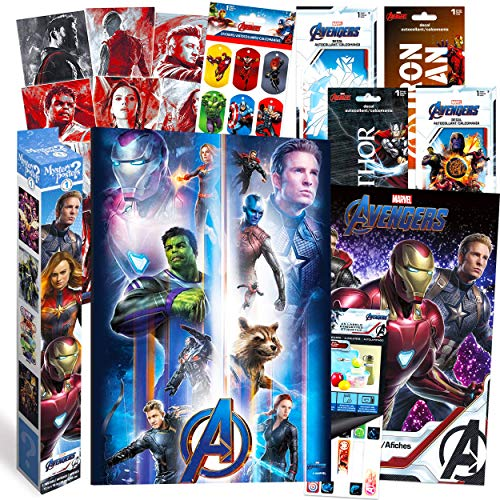 Marvel Avengers Decorations Artwork Wall Art Ultimate Bundle ~ 72 Pcs Avengers Posters, Stickers, Decals for Walls Laptop Car (Avengers Room Decor for Boys Girls Kids Adults)