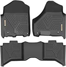 YITAMOTOR Floor Mats for Ram, Custom Fit Floor Liners for 2019 Ram 1500 Classic Crew Cab, 2012-2018 Dodge Ram 1500/2500/3500 Crew Cab, 1st & 2nd Row All Weather Protection
