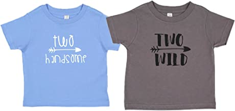 2-yr Old Second Birthday Two Handsome/Two Wild Cute Toddler T-Shirt