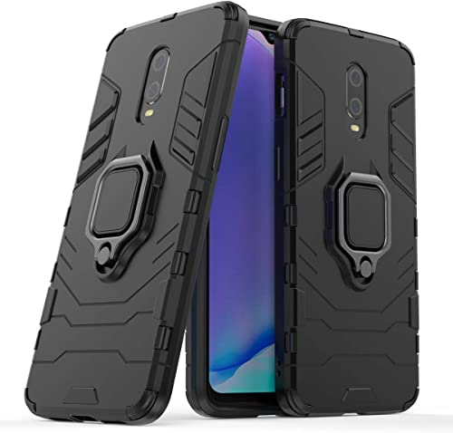 ANVIKA Tough D5 Armor Bumper Back Case Cover For Oneplus 7 Matte Dual Layer Protective Hybrid Ultra Shockproof 360 Protection Kickstand Back Case Cover For Oneplus 7 Black