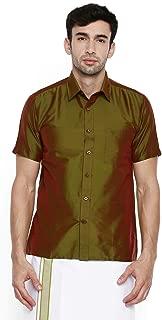 Chennis Olive Short Sleeve Regular Fit Shirt