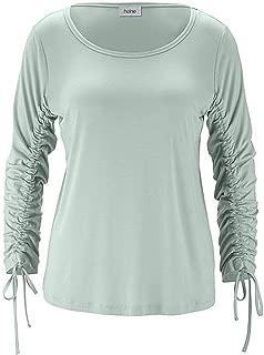 MAGLIETTA T-shirt Heine Paillettes Grigio Melange Taglia 38 40 42