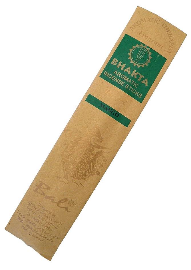 意図批判的に自分のためにお香 BHAKTA ナチュラル スティック 香(マンゴー)ロングタイプ インセンス[アロマセラピー 癒し リラックス 雰囲気作り]インドネシア?バリ島のお香