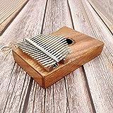 WSZTX Finger Piano 17-Tasten Kalimba Mahagoni Daumen Piano Pickup Tragbar mit Klaviertasche und Tutorial für Anfänger,A