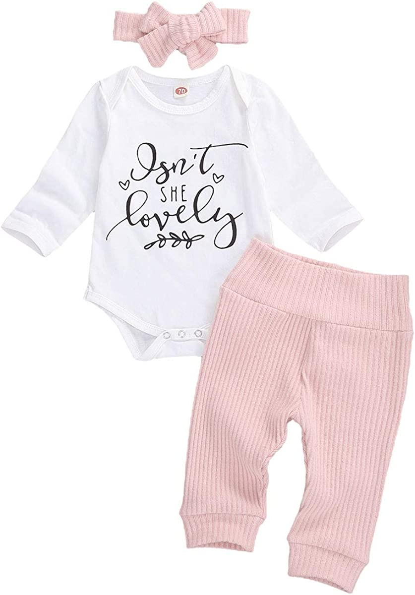 Yccutest Newborn Baby Girl Clothes Sets Floral Long Short Sleeve Romper + Pants + Headbands 3Pcs Toddler Girls Outfits
