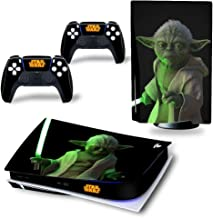 Playstation 5 Console and Controller Skin Warp-STAR WARS-YODA ,PS5 Cover/Sticker/Protector/Accessories, Vinyl Decal , Disk...