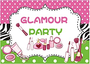 Funnytree Glamour Party Backdrop Spa Day Makeup Birthday Banner Decor Teens Girl Princess 1st Sweet 16th Baby Shower Corjl...