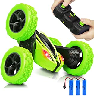 AHIROT RC Cars Remote Control Stunt Car - 2.4GHz 360 Degree Off-Road Double Sided Rotating Tumbling High Speed Rock Crawle...