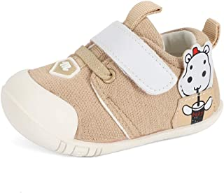 MASOCIO Unisex Baby Boys Girls First Walking Shoes Cartoon Toddler Infant Rubber Anti-Slip Prewalker Shoes