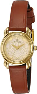 Titan Analog Gold Dial Women's Watch -2534YL04