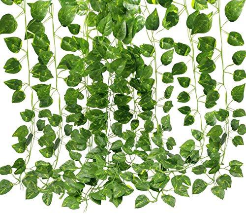 Kunstmatige klimop Hangende planten Privacy Hek Wandscherm Groen Blad Huis Keuken Tuin Kantoor Bruiloft Muur Decor Vine Garland