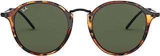 unisex-adult Rb2447 Round Fleck Sunglasses Round Sunglasses