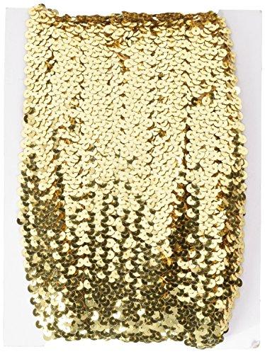 EXPO Stretch-Pailletten-Borte, 2,5 cm breit, 9 Meter, Gold
