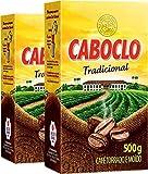 Cafe Caboclo 500g Torrado e Moído - Roast and Ground Coffee 17.60oz (PACK OF 02)