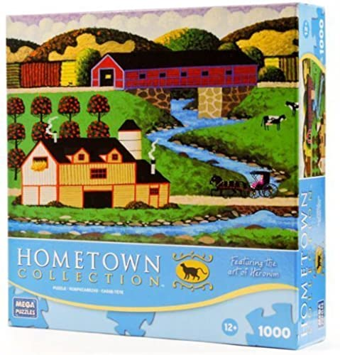 Hometown Collection  Coverot Bridge 1000 Piece Puzzle by Mega Brands