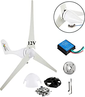 Wind Turbine Generator Kit 400Watt DC12V Indoor Outdoor Using of 3 Blades Marine, rv, Homes, Businesses and Industrial Energy Supplementation+ Controller +Flange