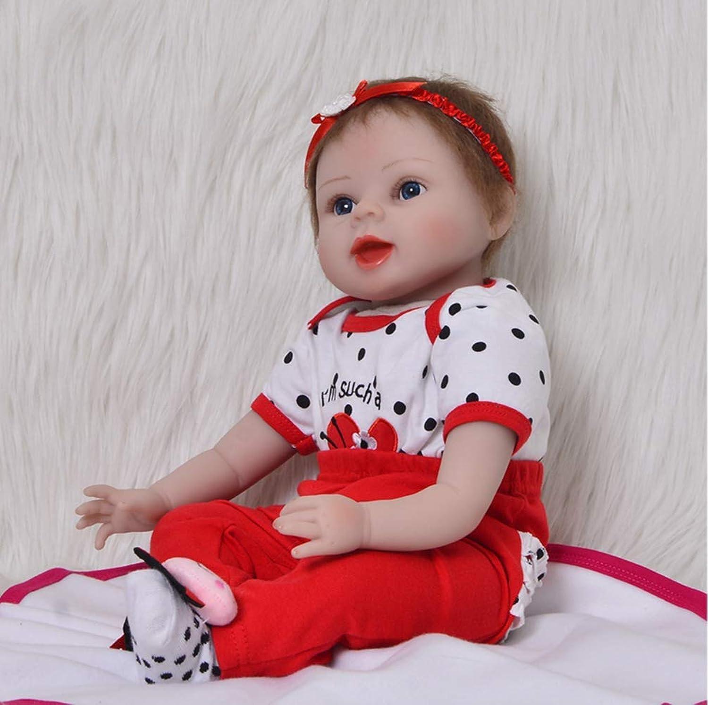 UBTY Eyes Open Girl Reborn Baby Doll 22inch 55cm Newborn Birthday Gifts Soft Vinyl Silicone Magnetic Mouth