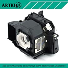 Artki ELPLP34 Replacement Lamp for Projector Epson PowerLite 62C 76C 82C EMP-62 EMP-62C EMP-63 EMP-76C EMP-82 EMP-X3