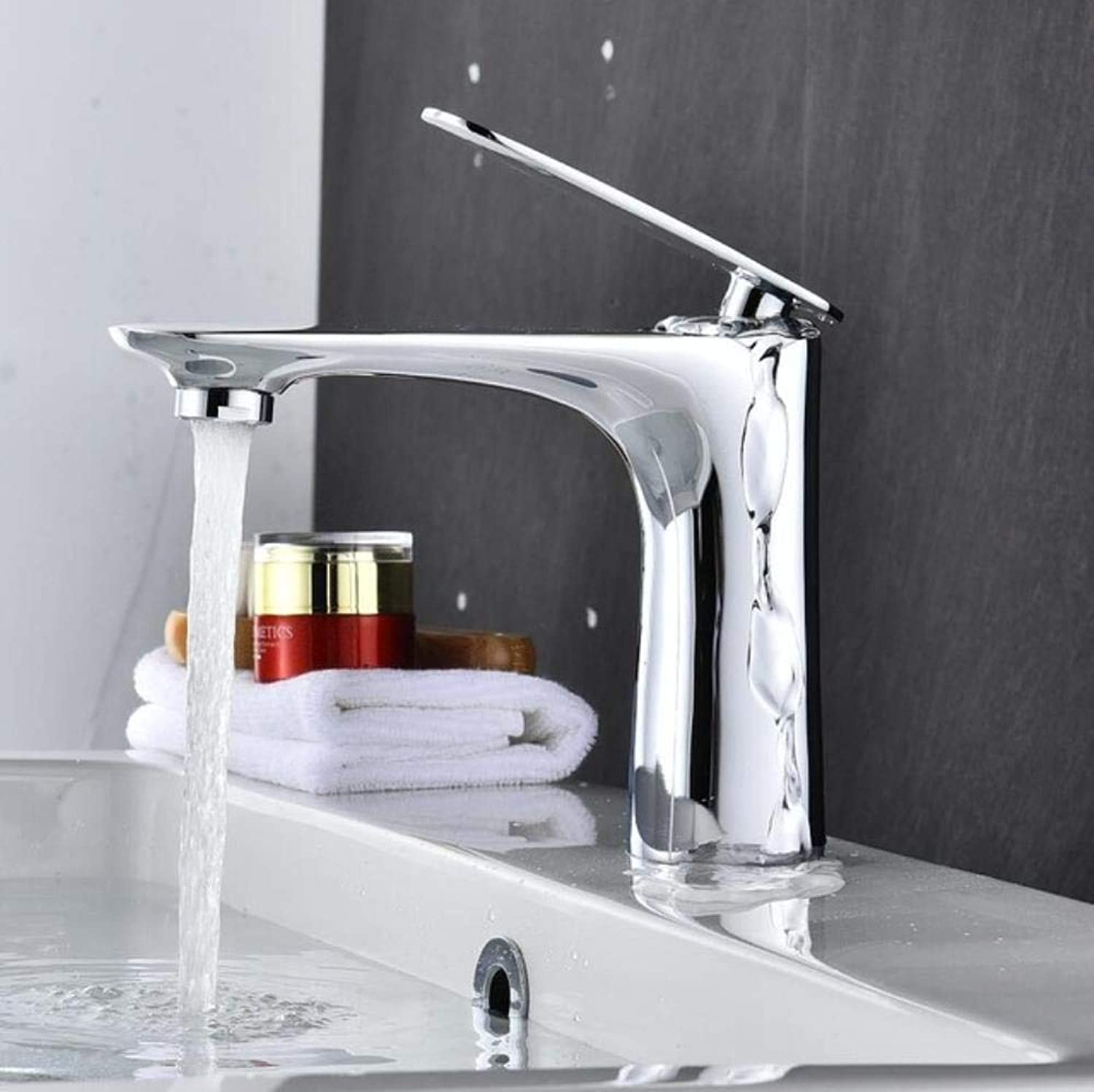 Kai&Guo Brass Chrome gold white black red orange basin Faucet Hot and Cold Water Sink Mixer Tap White tap Bathroom Basin mixer,chrome