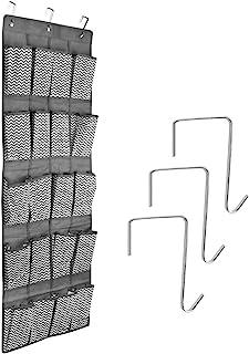 Navaris Rangement à Suspendre 20x Compartiment - Organisateur Suspendu en Tissu - Rangement avec 20x Poche pour Chaussures...