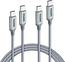 CHOETECH USB C to USB C Cable, (2 Pack 6ft) USB Type C Braided Fast Charging Cable (100W 20V 5A) Compatible with Galaxy S20 S10 Note10+, MacBook Pro 2019 2018 2017,MacBook Air,iPad Pro,Nintendo Switch